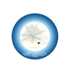 Happy Halloween icon scary on blue background vector
