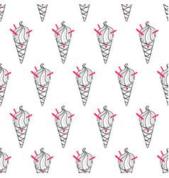 Ice cream easy pattern linear-17 vector