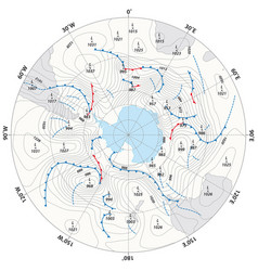 imaginary weather map antarctica vector image