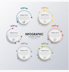 Info graphic with round design elements pointers vector