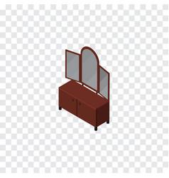 Isolated sideboard isometric drawer vector