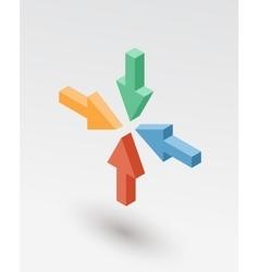 Isometric arrows icon vector image