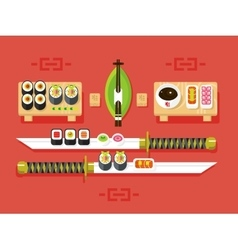 Japanese cuisine sushi vector image