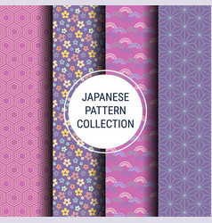 japanese spring pattern collection vector image