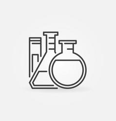 Lab glassware icon vector