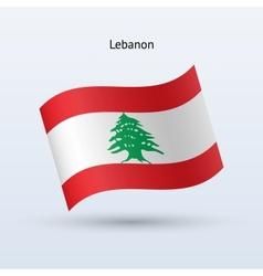 Lebanon flag waving form vector image