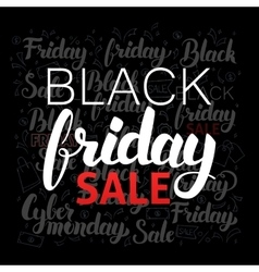 Lettering Black Friday Sale vector image