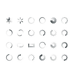 loading circles user interface design objects vector image