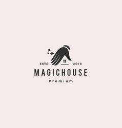 Magic house logo icon vector