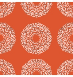Mandala Hand drawn seamless ornament in orange vector