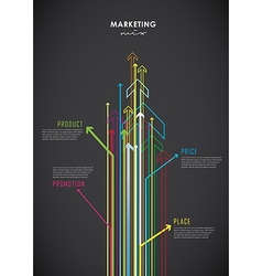 Marketing mix business infographic background vector