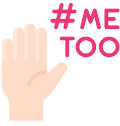 Me too movement icon feminism related vector