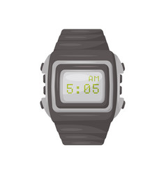 Men s wrist watch with gray bracelet buttons and vector