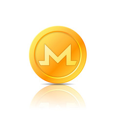 Monero coin symbol icon sign emblem vector