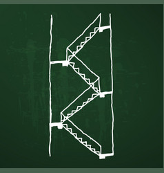multiple stairs sketch vector image