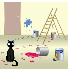 Naughty cat 6 vector image