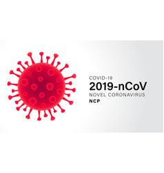 Novel coronavirus covid19 19 gray background vector