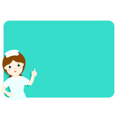 nurse explains at the blank board vector image vector image