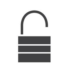 open lock glyph icon vector image