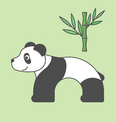 panda cartoon style art for kids vector image