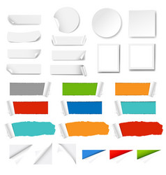 paper label isolated white background vector image