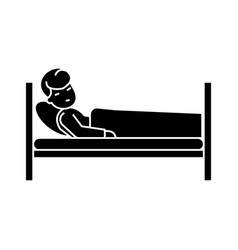 patient in hospital bed icon vector image