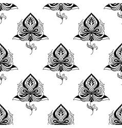 Persian paisley seamless pattern vector image