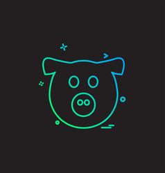 pig icon design vector image