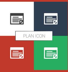 Plan icon white background vector