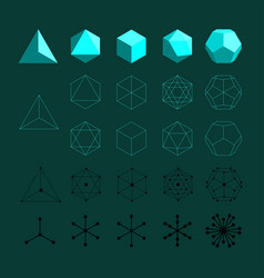 platonic solids vector image