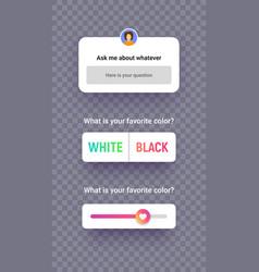poll template for social media app mockup screen vector image