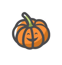 pumpkin gourd vegetable icon cartoon vector image