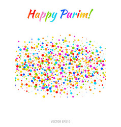 Purim flyer carnival paper confetti background vector