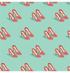 Red heels vector image