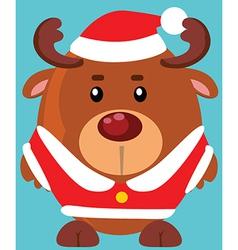 Reindeer santa design vector