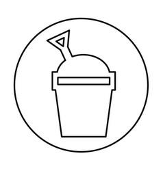 Sand bucket isolated icon vector