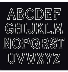 Serif font vector