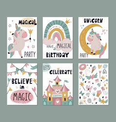 set greeting cards or invitations vector image