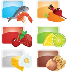 set of food - icons vector image