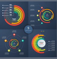 set of presentation circle infographic vector image