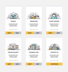 Set of ready to use screen envelopes for mobile vector