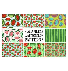 set patterns from watermelon vector image