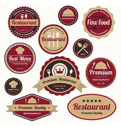 Set vintage retro restaurant badges and labels vector