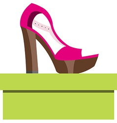 Shoes on a box vector