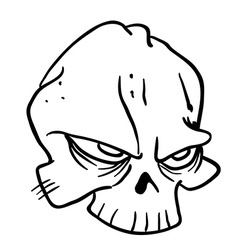 simple black and white skull 1 vector image