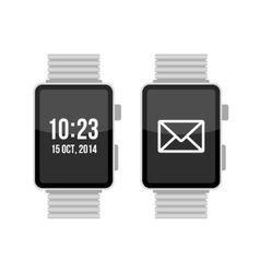 Smart Watch Set on White Background vector image