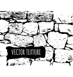 stone brick wall texture black and white vector image