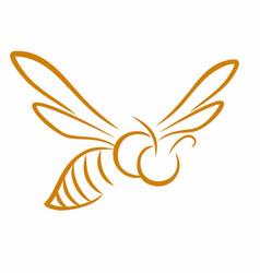 Symbol flying bee vector
