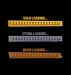 textured loading interface buttons golden stone vector image