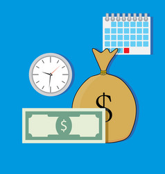 time salary vector image